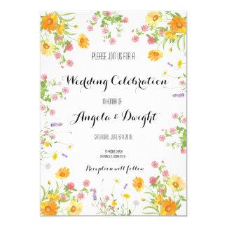Carte Bouquet rustique de fleur sauvage de mariage