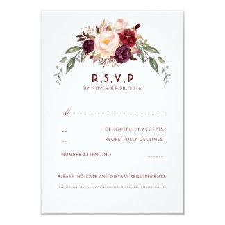 Carte Bourgogne Marsala RSVP floral