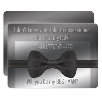Carte Bowtie élégant vous serez mon meilleur homme