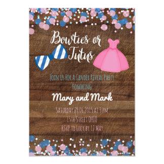 Carte Bowties ou genre de tutus indiquent l'invitation