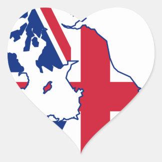 Carte BRITANNIQUE de drapeau Sticker Cœur
