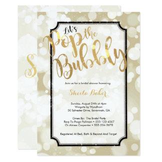 Carte Bruit nuptiale d'invitation de douche de Champagne