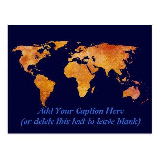 Carte brûlée d'Orange World Carte Postale