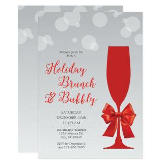 Carte Brunch en verre de vacances de mimosa et