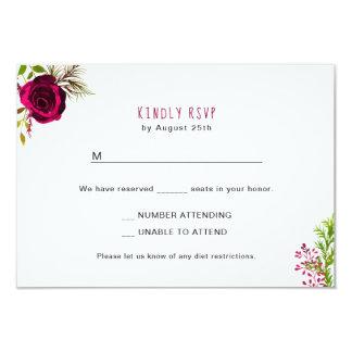 Carte Buffet floral 3979 de carte- de réponse de la