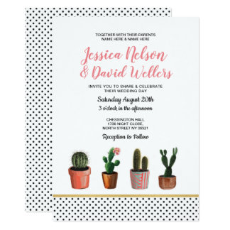 Carte Cactus de Succulents de point de polka