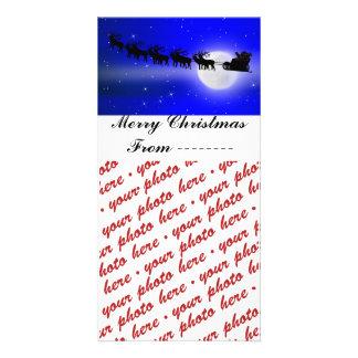 Carte Cadre de photo de tour de Sleigh de Père Noël