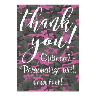 Carte Camo avec le rose - Merci