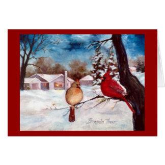 Carte cardinale de vacances de sérénité d'hivers