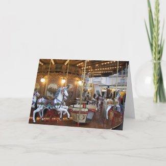 Carte Carrousel vintage de champ de foire