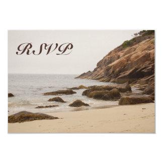 Carte Cartes- de réponse de mariage de plage - plage
