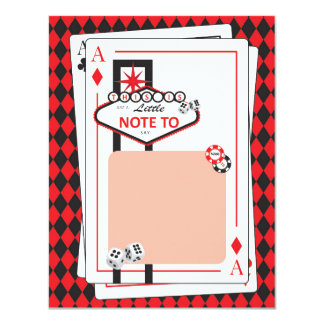 Carte Casino/nuit de Las Vegas - partie adulte - Merci