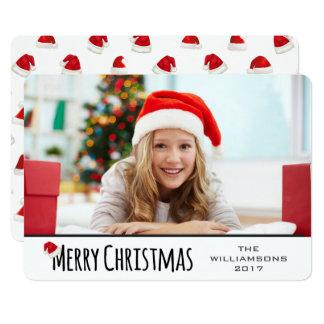 Carte Casquette lunatique de Père Noël de Joyeux Noël
