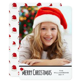 Carte Casquette lunatique vertical blanc de Père Noël de