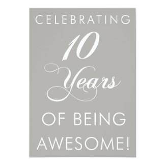 Carte Célébrant 10 ans d'être impressionnant