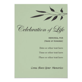 Carte Célébration commémorative d'arbre élégant Invitati