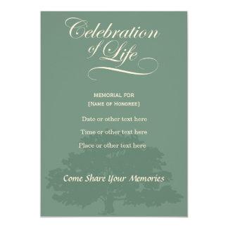 Carte Célébration commémorative d'invitatation de sauge