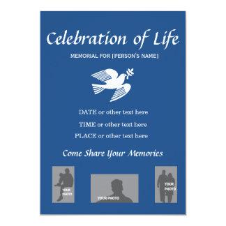Carte Célébration commémorative d'invitation de colombe