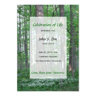 Carte Célébration commémorative d'invitation de forêt de