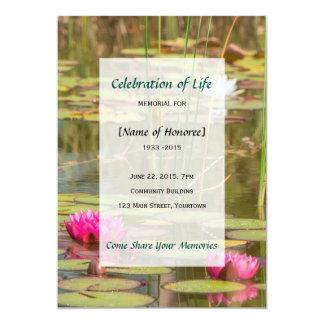 Carte Célébration commémorative d'invitation de nénuphar