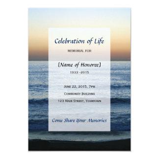 Carte Célébration commémorative d'océan d'invitation de
