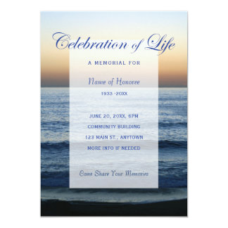 Carte Célébration de bleu d'océan d'invitation de