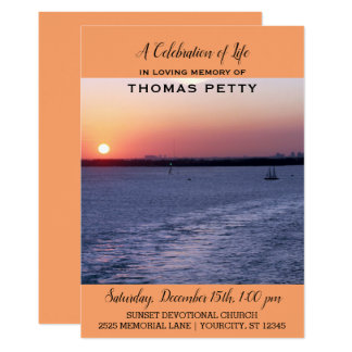 Carte Célébration de coucher du soleil de voilier
