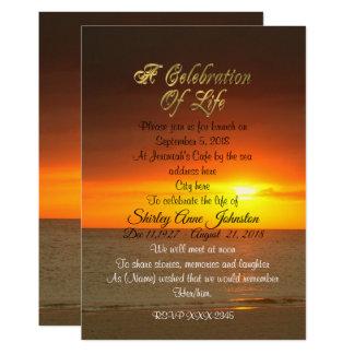 Carte Célébration de coucher du soleil d'invitation de