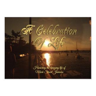 Carte Célébration de coucher du soleil d'océan