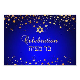 Carte Célébration de PixDezines Mitzvah, confettis d'or