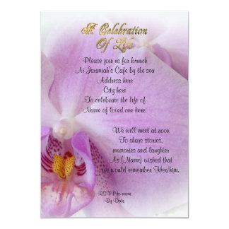 Carte Célébration d'orchidée d'invitation de la vie