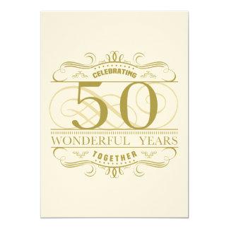 Carte Célébration du cinquantième anniversaire