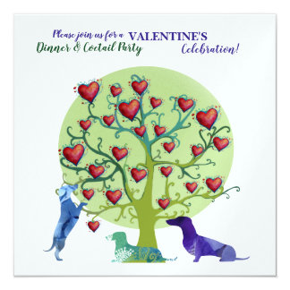 Carte Célébration moderne de partie de Valentine