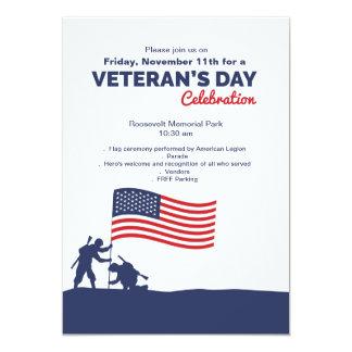 Carte Célébrez l'invitation du jour de vétéran