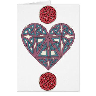 Carte celtique 2 de coeur