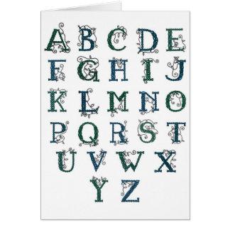 Carte celtique d'alphabet