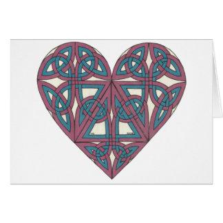 Carte celtique de coeur
