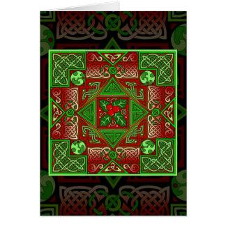 Carte celtique de labyrinthe de houx