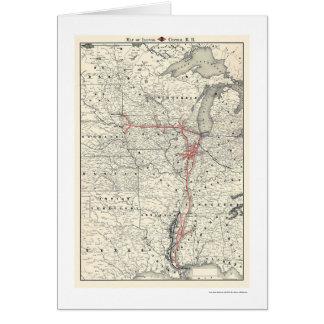Carte centrale 1892 de chemin de fer de l'Illinois