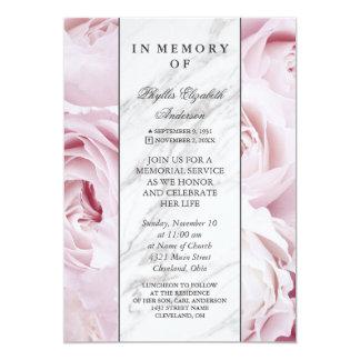 Carte Cérémonie commémorative de rose et blanche rose du