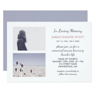 Carte Cérémonie commémorative faite sur commande d'hiver