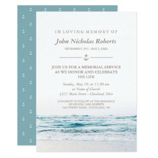 Carte Cérémonie commémorative nautique de ressacs