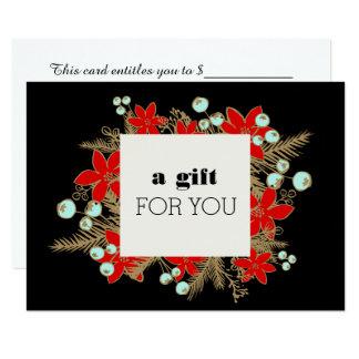Carte Certificat au détail de cadeau de Noël