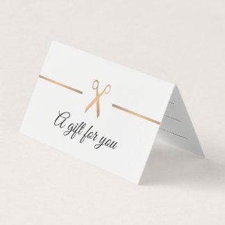 Carte Certificat-prime élégant de cheveux blancs d'or de