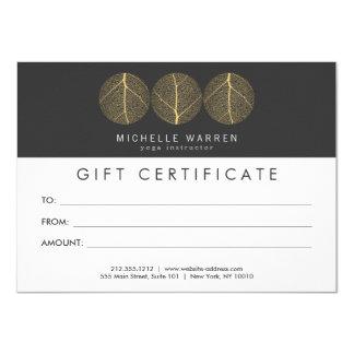 Carte Certificat-prime élégant de logo de trio de