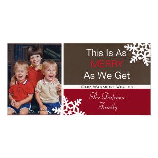 """Carte C'est aussi joyeux que nous obtenons"""" Noël"""
