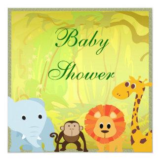 Carte C'est un baby shower de jungle