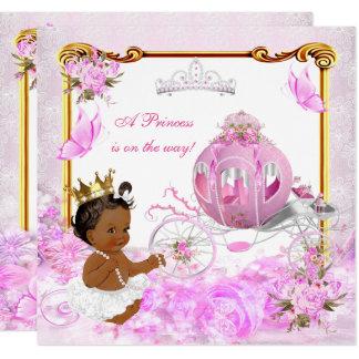 Carte Chariot d'or de rose de princesse baby shower