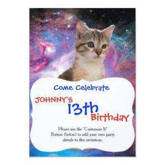 Carte Chat-animal-félin espace-Kitty-mignon de chat-chat