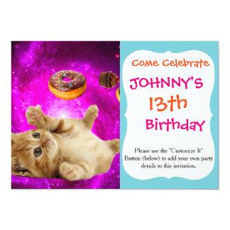 Carte Chat de beignet - chat d'animal familier - chat de
